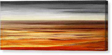 Brushed 77 - Panoramic Sunset Canvas Print by Gina De Gorna