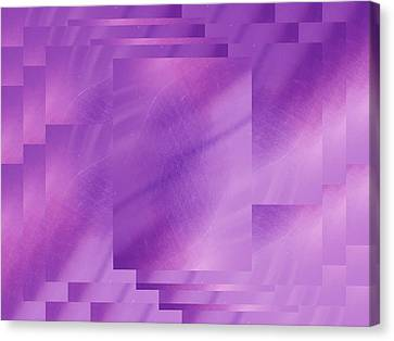Brushed Purple Violet 7 Canvas Print by Tim Allen