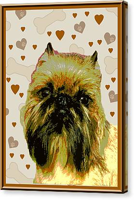 Brussels Griffen Canvas Print by One Rude Dawg Orcutt