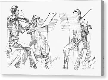 Brussels String Trio Canvas Print by Granger
