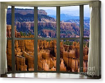 Landscapes Canvas Print - Bryce Canyon Bay Window View by James BO  Insogna