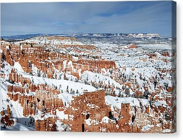 Canvas Print featuring the photograph Bryce Winter by Bob and Nancy Kendrick