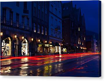 Bryggen Lights Canvas Print