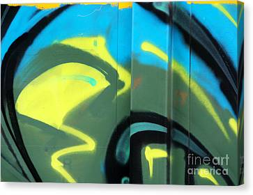 Bubble Abstract Canvas Print by Joan McArthur