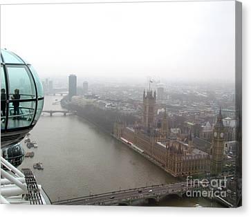 Bubble Over London Canvas Print by Beth Saffer