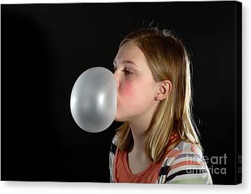 Highspeed Canvas Print - Bubblegum Bubble 3 Of 6 by Ted Kinsman