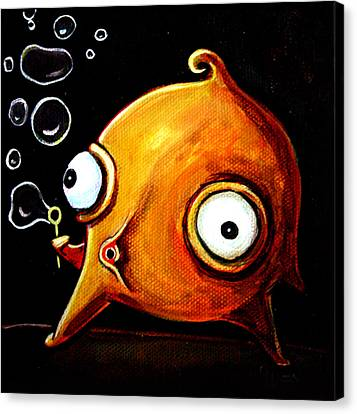 Bubbles Glob Canvas Print by Leanne Wilkes