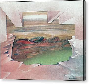 Bubblescape 1980 B Canvas Print by Glenn Bautista