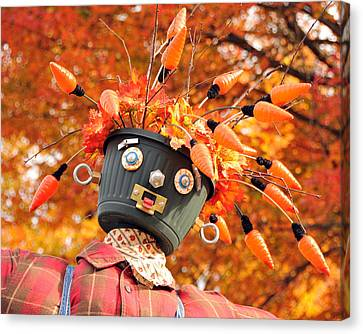 Canvas Print featuring the photograph Bucket Head by Mike Martin