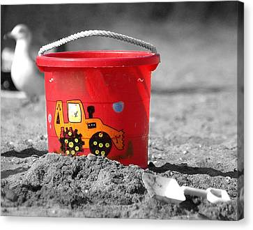 Canvas Print featuring the photograph Get A Bucket by Raymond Earley