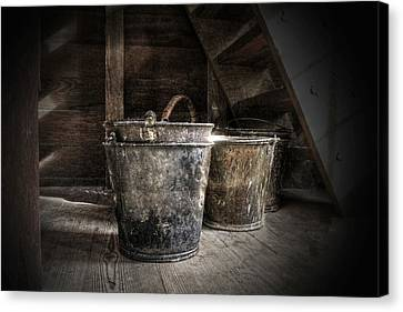 Buckets Canvas Print by Christine Annas