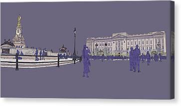 Buckingham Palace, Queen Vctoria Memorial, London Canvas Print
