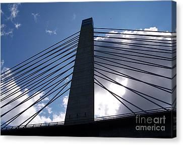 Bucksport Bridge Canvas Print by Ursula Lawrence