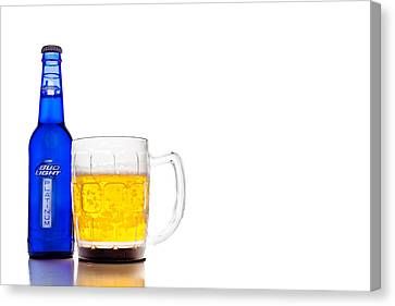 Bud Light Platinum Canvas Print by Keith Allen
