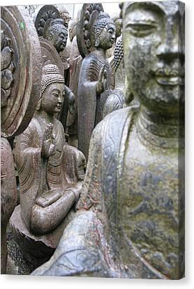 Canvas Print featuring the photograph Buddha City by Brian Sereda