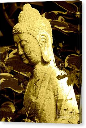 Canvas Print featuring the photograph Buddha  by France Laliberte