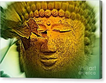 Buddha In Deep Meditation Canvas Print by Susanne Van Hulst