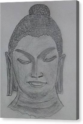 Buddha Sketch Canvas Print - Buddha by Monika