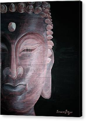 Canvas Print featuring the painting Buddha by Teresa Beyer