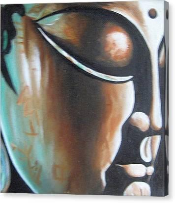 Buddha Canvas Print by Usha Rai