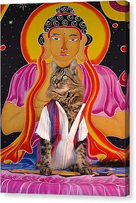 Canvas Print featuring the photograph Buddhapuss by Joann Biondi