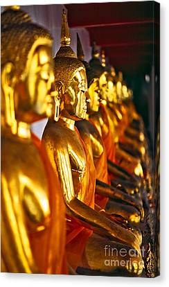 Canvas Print featuring the photograph Buddhas by Luciano Mortula