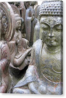 Canvas Print featuring the photograph Buddhas2 by Brian Sereda