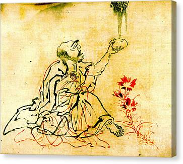 Buddhist Disciple 1849 Canvas Print