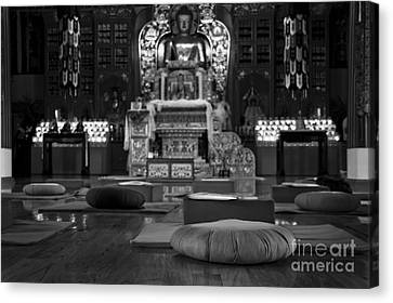 Buddhist Temple Woodstock Canvas Print by Design Remix