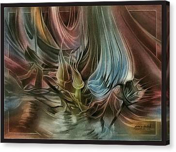 Canvas Print featuring the pastel Budscomp 2010 by Glenn Bautista