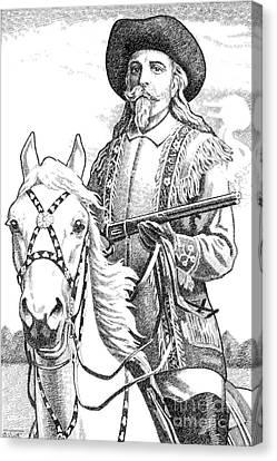 Buffalo-bill-cody Canvas Print by Gordon Punt