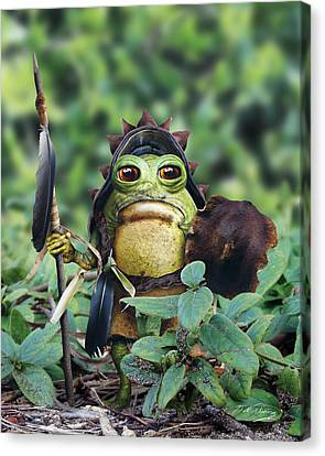 Bufo Warrior Goblin Canvas Print by Bill Fleming