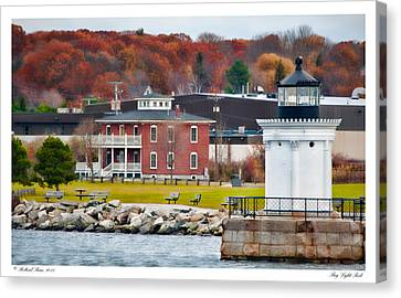 Canvas Print featuring the photograph Bug Light Park by Richard Bean
