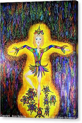 Bugs Ballerina Canvas Print by Marie Schwarzer