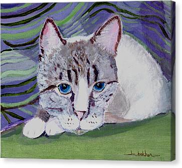 Bugsy's Quilt Canvas Print by Lou Belcher