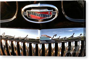 Canvas Print featuring the photograph Buick 1952 Front Grill by Elizabeth Coats