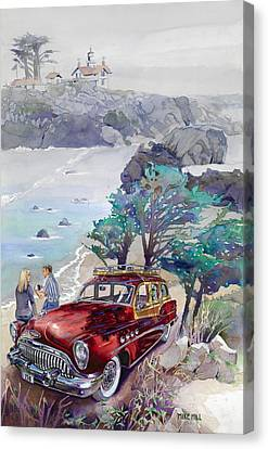 Buick At Battery Point Canvas Print by Mike Hill