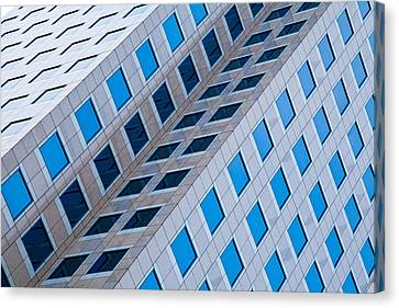 Building Abstract In Long Beach Canvas Print