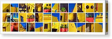 Building Mosaic  Canvas Print by Mauro Celotti