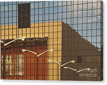 Building Reflected In Glass Building Windows Canvas Print