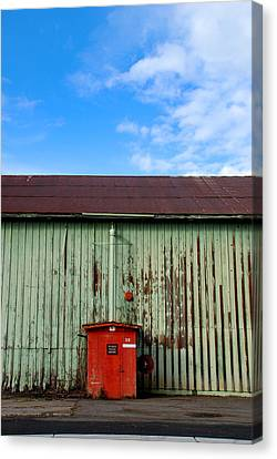 Canvas Print featuring the photograph Building Series - Red Shack by Kathleen Grace