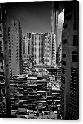 Buildings In Hong Kong Canvas Print