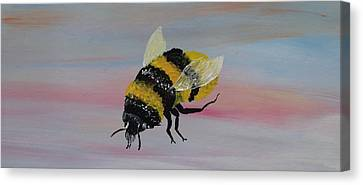 Silver Moonlight Canvas Print - Bumble Bee by Mark Moore