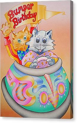 Bumper Birthday Canvas Print by Virginia Stuart