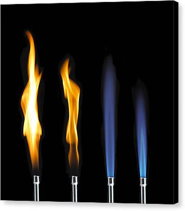 Bunsen Burner Flame Sequence Canvas Print by