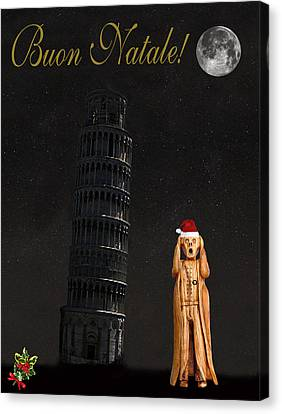 Genoa Canvas Print - Buon Natale Pisa Merry Christmas by Eric Kempson