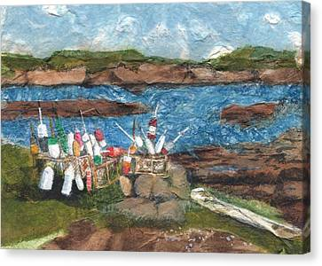 Buoy Collection Canvas Print by Lynn Babineau