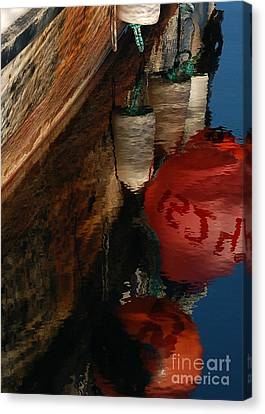 Buoy Reflection I Canvas Print by Chuck Flewelling