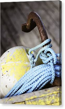 Buoy Rope And Anchor Canvas Print