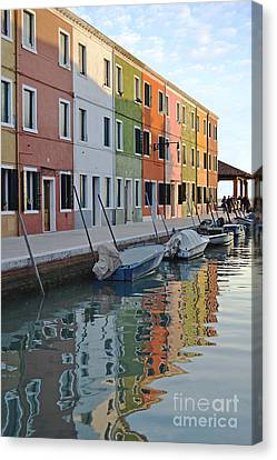 Canvas Print featuring the photograph Burano Canal by Rebecca Margraf